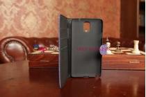 Лаковая блестящая кожа под крокодила xехол-книжка для Samsung Galaxy Note 3 SM-N900/N9005 фиолетовый