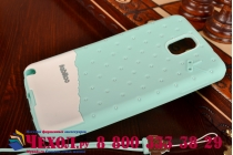 """Фирменная необычная уникальная полимерная мягкая задняя панель-чехол-накладка для Samsung Galaxy Note 3 """"тематика Андроид в мятном шоколаде"""""""