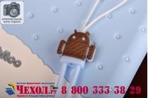 """Фирменная необычная уникальная полимерная мягкая задняя панель-чехол-накладка для Samsung Galaxy Note 3 """"тематика Андроид в черничном шоколаде"""""""