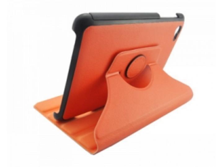 Чехол для Samsung 7.7 P6800 поворотный оранжевый кожаный..