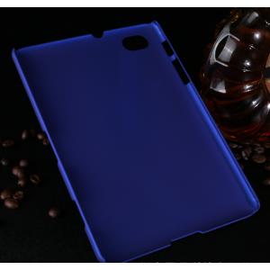 Фирменная задняя панель-крышка-накладка из тончайшего и прочного пластика для Samsung 7.7 P6800 синяя