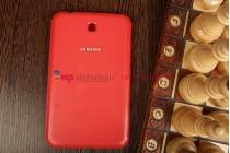 """Чехол с логотипом для Samsung Galaxy Tab 3 7.0 SM-T210/T211 с дизайном """"Book Cover"""" красный"""