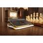 Фирменный чехол для Samsung Galaxy Tab 3 7.0 SM-T210/T211 кожа крокодила золотой