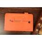 """Чехол-обложка для Samsung Galaxy Tab 3 7.0 SM-T210/T211 оранжевый натуральная кожа """"Prestige"""" Италия"""