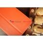 Чехол-обложка для Samsung Galaxy Tab 3 7.0 SM-T210/T211 оранжевый натуральная кожа
