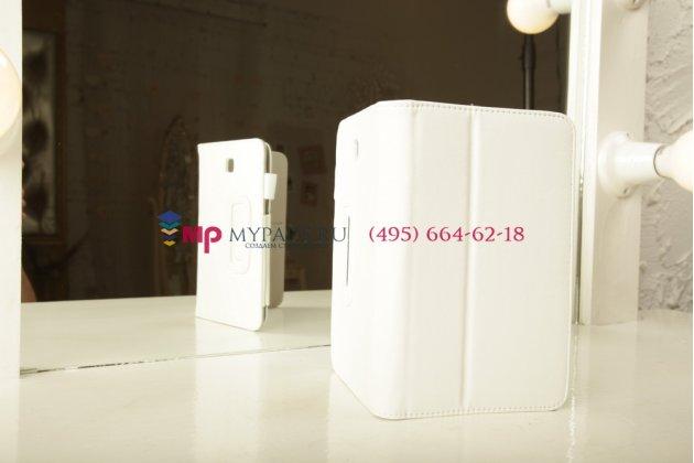 """Чехол-обложка для Samsung Galaxy Tab 3 7.0 T210/T211 белый натуральная кожа """"Prestige"""" Италия"""