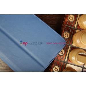 "Чехол-обложка для Samsung Galaxy Tab 3 7.0 T210/T211 синий натуральная кожа 'Prestige"" Италия"