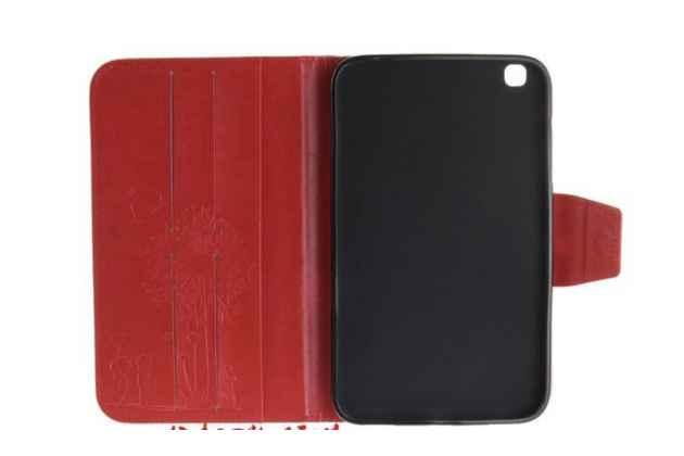 """Чехол-обложка для Samsung Galaxy Tab 3 8.0 T310/T311 красный """"Prestige"""" с красивым узором"""