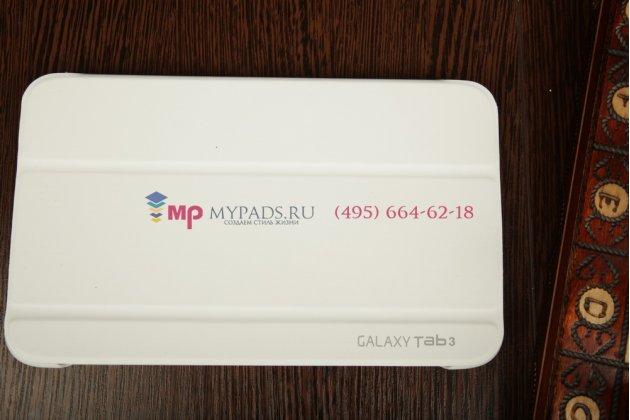 """Чехол с логотипом для Samsung Galaxy Tab 3 8.0 SM-T310/T311/T315 с дизайном """"Book Cover"""" белый"""