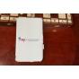 "Фирменный чехол для Samsung Galaxy Tab 3 8.0 SM T310/T311/T315 белый ""Deluxe"" натуральная кожа Италия"