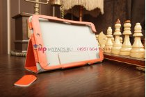 """Чехол-обложка для Samsung Galaxy Tab 3 8.0 SM-T310/T311 оранжевый """"Prestige"""" натуральная кожа Италия"""