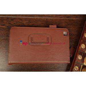 """Чехол-обложка для Samsung Galaxy Tab 3 8.0 T310/T311 коричневый """"Prestige"""" натуральная кожа Италия"""