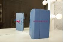 "Чехол-обложка для Samsung Galaxy Tab 3 8.0 T310/T311 синий ""Prestige"" натуральная кожа Италия"