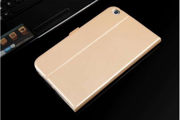 """Чехол-обложка для Samsung Galaxy Tab 3 8.0 T310/T311 золотой """"Prestige"""" натуральная кожа Италия"""