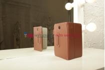"""Чехол-обложка для Samsung Galaxy Tab 3 7.0 T210/T211 коричневый натуральная кожа 'Prestige"""" Италия"""