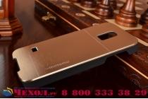 Фирменная металлическая задняя панель-крышка-накладка из тончайшего облегченного авиационного алюминия для Samsung GALAXY S5 mini SM-G800F золотая