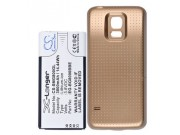 Усиленная батарея-аккумулятор большой ёмкости 3800mAh для телефона Samsung GALAXY S5 mini SM-G800F + задняя кр..