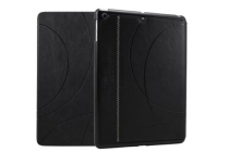 Фирменный чехол-обложка с подставкой для Samsung Galaxy Note 10.1 2014 edition SM-P600/P601/P605 черный кожаный