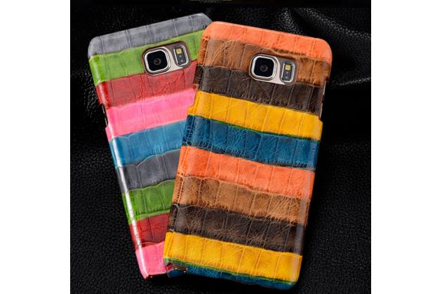 """Фирменная неповторимая экзотическая панель-крышка обтянутая кожей крокодила с фактурным тиснением для Samsung Galaxy Note 4 SM-N910C/F тематика """"Африканский Коктейль"""". Только в нашем магазине. Количество ограничено."""