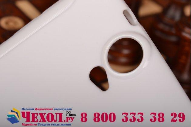 Фирменная ультра-тонкая полимерная из мягкого качественного силикона задняя панель-чехол-накладка для HTC One E9 Plus белая