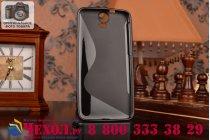 Фирменная ультра-тонкая полимерная из мягкого качественного силикона задняя панель-чехол-накладка для HTC One E9 Plus черный