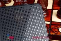 Мультяшный чехол с прогнозом погоды для Samsung Galaxy Note 4 в точечку с дырочками прорезиненный с перфорацией черный