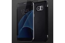 """Чехол-книжка с дизайном """"Clear View Cover"""" полупрозрачный с зеркальной поверхностью для Samsung Galaxy Note 4 черный"""