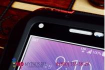 Неубиваемый водостойкий противоударный водонепроницаемый грязестойкий влагозащитный ударопрочный фирменный чехол-бампер для Samsung Galaxy Note 4 SM-G850F/SM-N910C цельно-металлический со стеклом Gorilla Glass