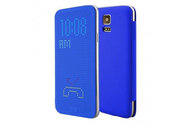 Чехол с мультяшной 2D графикой и функцией засыпания для Samsung Galaxy Note 4 в точечку с дырочками прорезиненный с перфорацией голубой