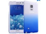 Фирменная из тонкого и лёгкого пластика задняя панель-чехол-накладка для Samsung Galaxy Note Edge прозрачная с..