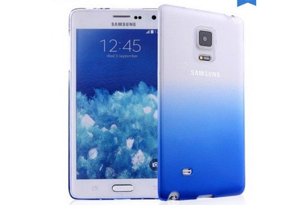 Фирменная из тонкого и лёгкого пластика задняя панель-чехол-накладка для Samsung Galaxy Note Edge прозрачная с эффектом дождя