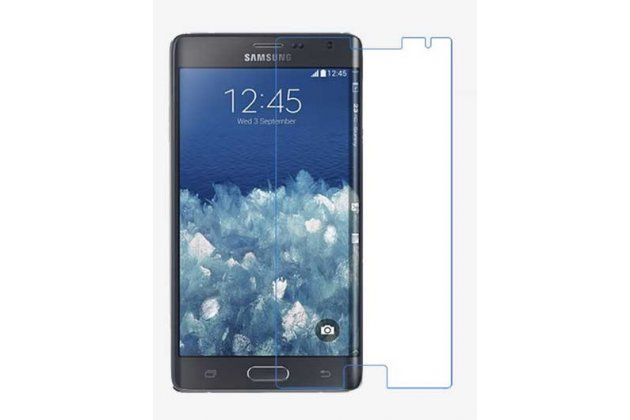 Фирменная оригинальная защитная пленка для телефона Samsung Galaxy Note Edge SM-N915F глянцевая