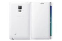 Фирменный оригинальный чехол с логотипом для Samsung Galaxy Note Edge Flip Wallet белый