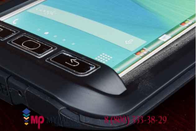 Неубиваемый противоударный грязестойкий влагозащитный ударопрочный фирменный чехол-бампер для Samsung Galaxy Note Edge SM-N915F цельно-металлический
