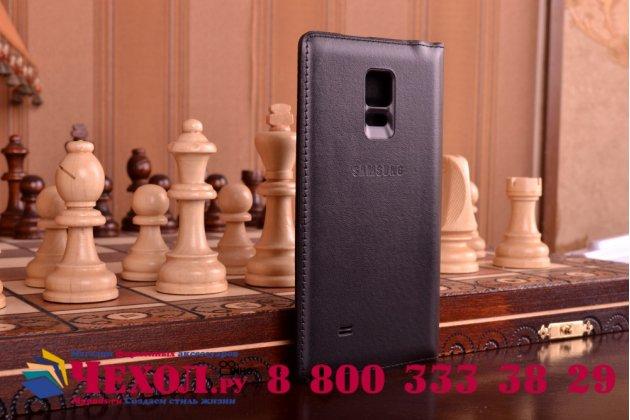 """Чехол с логотипом для Samsung Galaxy Note Edge с дизайном """"Flip Wallet"""" черный угольный"""