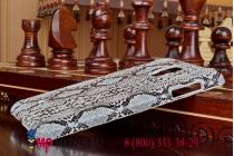 "Ультра-тонкая пластиковая задняя панель-крышка для Samsung Galaxy Note Edge SM-N915F  ""змеиная кожа"" белый"