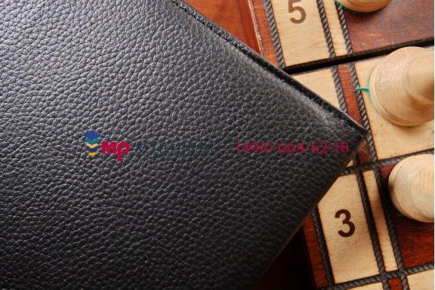 Чехол для Samsung Galaxy Tab 4 10.1 SM-T530/T531/T535 поворотный черный кожаный