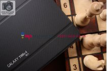 """Чехол с логотипом для Samsung Galaxy Tab 4 10.1 SM-T530/T531/T535 с дизайном """"Book Cover"""" черный"""