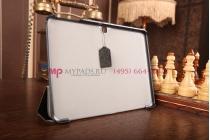 """Фирменный умный чехол самый тонкий в мире для Samsung Galaxy Tab 4 10.1 SM-T530/T531/T535 """"Il Sottile"""" черный пластиковый Италия"""