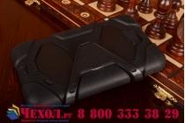 Противоударный усиленный ударопрочный фирменный чехол-бампер-пенал для Samsung Galaxy Tab 4 7.0 SM-T230/T231/T235 черный