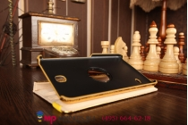 Эксклюзивный чехол для Samsung Galaxy Tab 4 7.0 кожа крокодила золотой. Только в нашем магазине. Количество ограничено