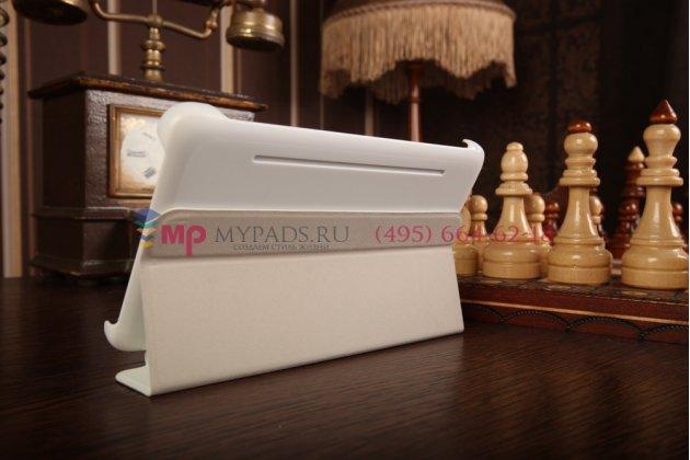 """Чехол с логотипом для Samsung Galaxy Tab 4 7.0 SM-T230/T231/T235 с дизайном """"Book Cover"""" белый"""