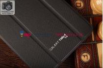 """Чехол с логотипом для Samsung Galaxy Tab 4 7.0 SM-T230/T231/T235 с дизайном """"Book Cover"""" черный"""