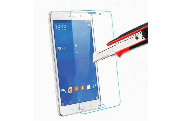 Фирменное защитное закалённое противоударное стекло премиум-класса из качественного японского материала с олеофобным покрытием для Samsung Galaxy Tab 4 7.0 SM-T230/T231/T235