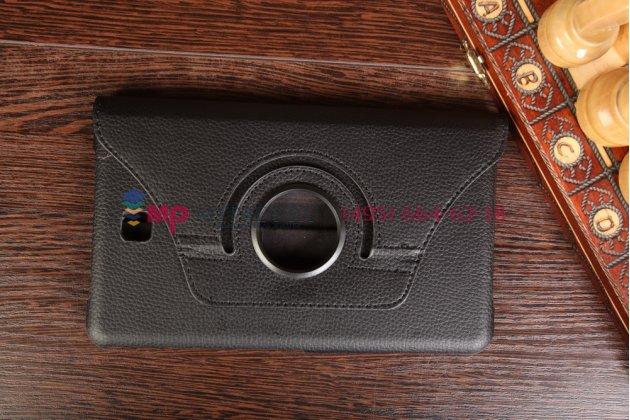 Чехол для Samsung Galaxy Tab 4 8.0 роторный оборотный поворотный черный кожаный