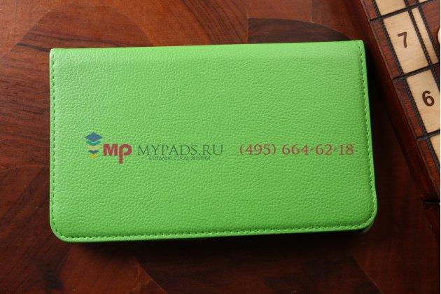 Чехол для Samsung Galaxy Tab 4 8.0 поворотный зеленый кожаный
