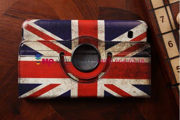 """Фирменный чехол для Samsung Galaxy Tab 4 8.0 SM-T330/T335 """"тематика ретро Британский флаг"""""""
