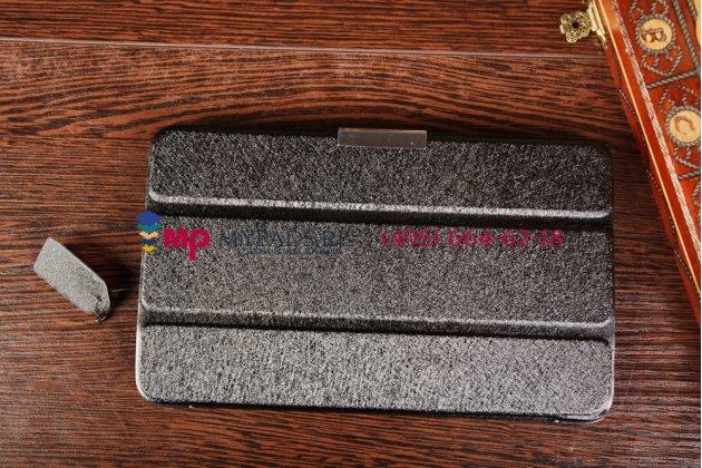 """Фирменный умный чехол самый тонкий в мире для Samsung Galaxy Tab 4 8.0 SM-T330/T331/T335 """"Il Sottile"""" черный пластиковый Италия"""