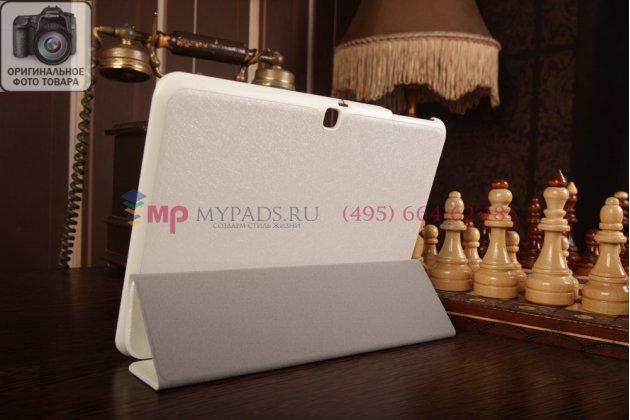 """Фирменный умный чехол самый тонкий в мире для Samsung Galaxy Tab 4 10.1 SM-T530/T531/T535 """"Il Sottile"""" белый пластиковый Италия"""