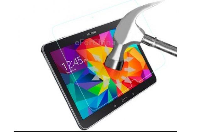Фирменное защитное закалённое противоударное стекло премиум-класса из качественного японского материала с олеофобным покрытием для Samsung Galaxy Tab 4 10.1 SM-T530/T531/T535